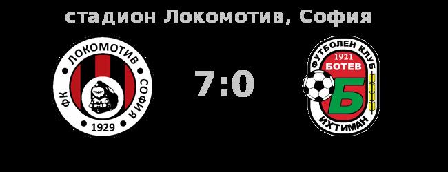 Локомотив - Ботев (Ихтиман) 7:0